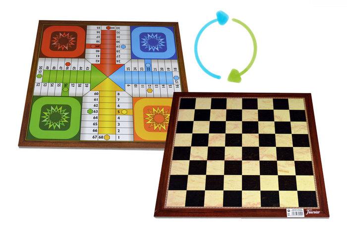Tablero grande parchis ajedrez 4 jugadores