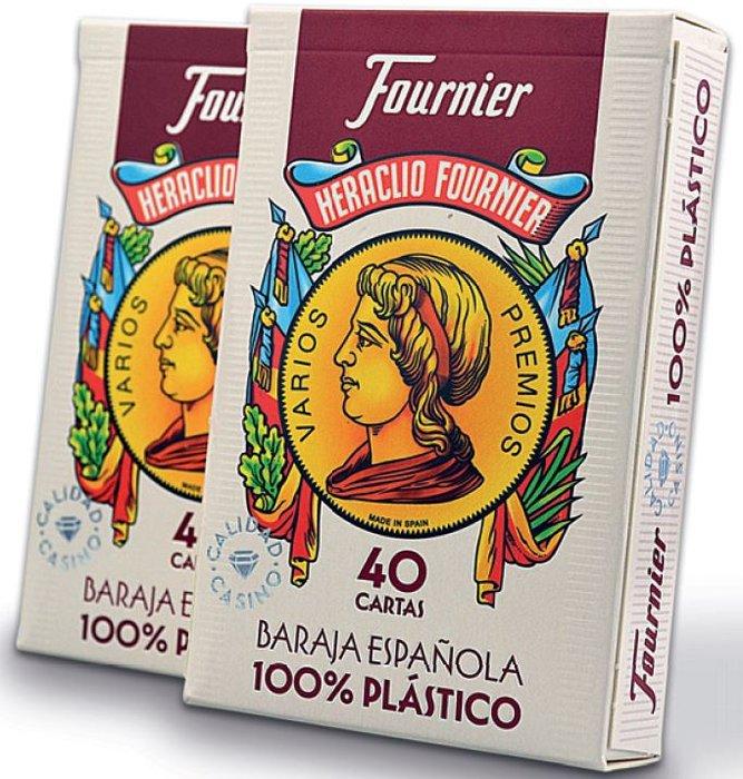 Baraja española 2100 100% plastico de 40 cartas