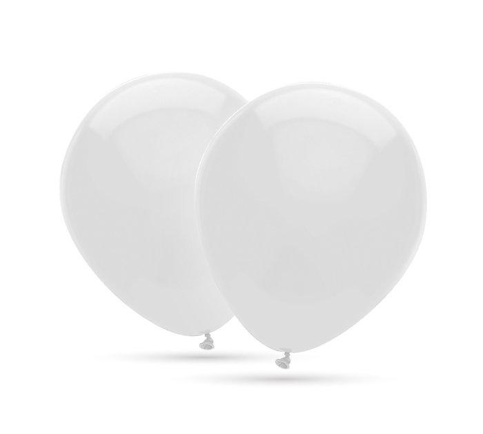 Globos 35 cm Ø bolsa-solapa 20 unidades  decohelium blanco
