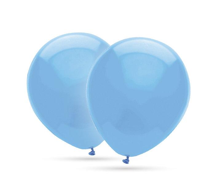 Globos 35 cm Ø bolsa-solapa 20 unidades decohelium azul ciel
