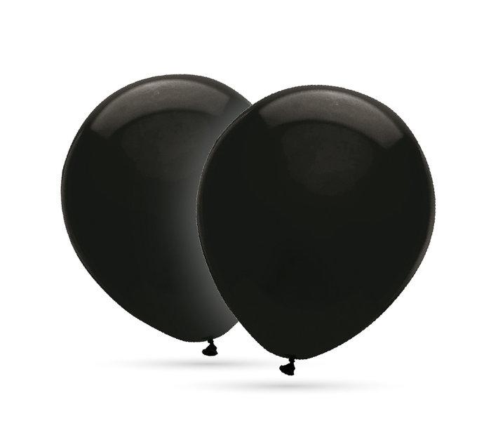 Globos 35 cm Ø bolsa-solapa 20 unidades decohelium negro