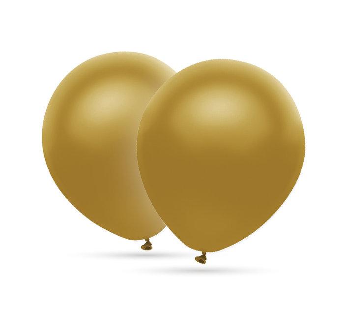 Globos oro 28 cm Ø bolsa-solapa 10 unidades 50 aniversario