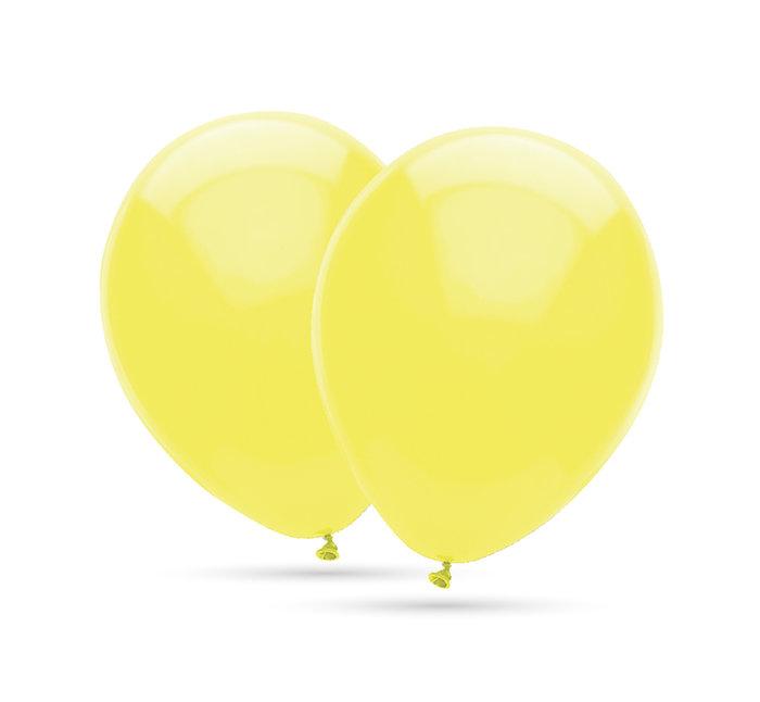 Globos 35 cm Ø bolsa-solapa 20 unidades decohelium amarillo