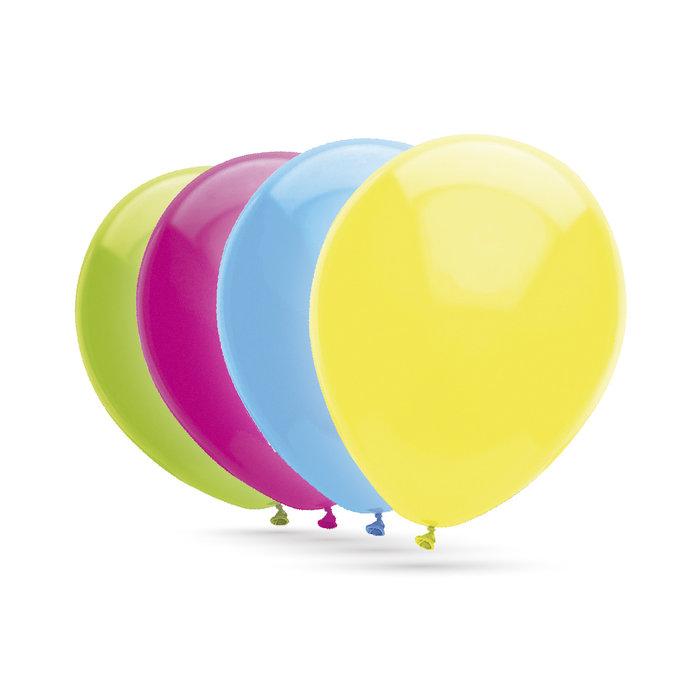 Globo 30cm bolsa 50 unid apto para helio 100% latex surtido