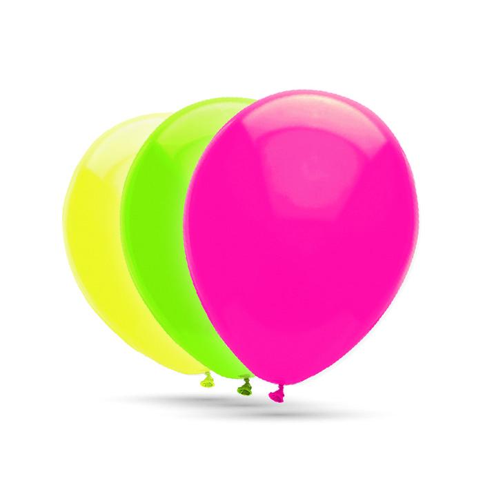 Globos 28 cm Ø bolsa 100 unidades fluorescentes colores surt