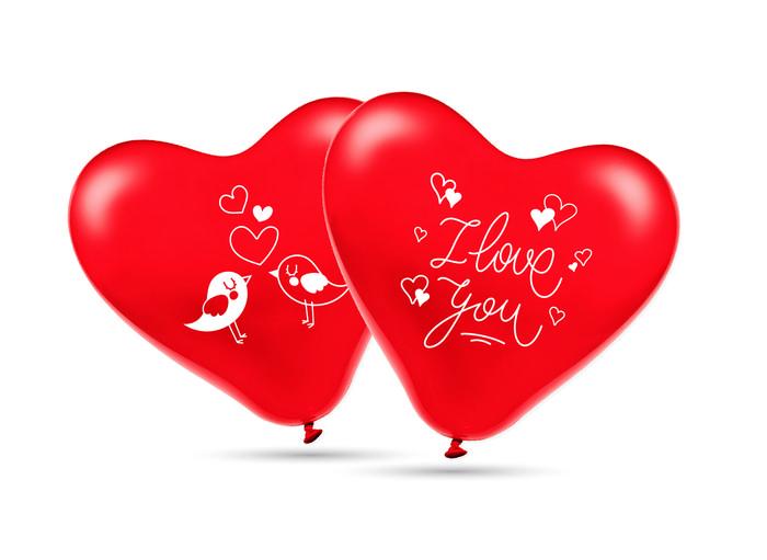 Globos 30 cm Ø bolsa-solapa 10 unidades corazon i love you