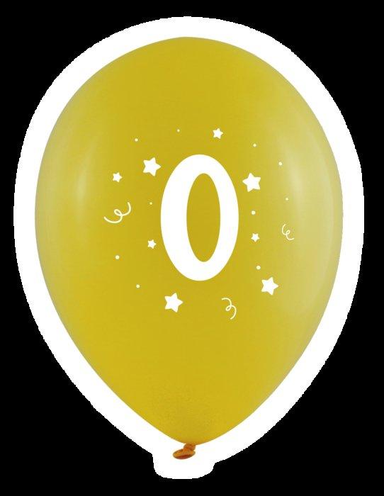 Globos 30 cm Ø bolsa-solapa 10 unidades surtido numero 0