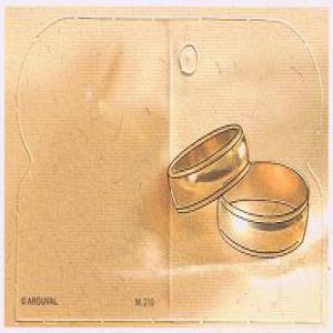 Etiqueta regalo boda troquelada 100 unidades
