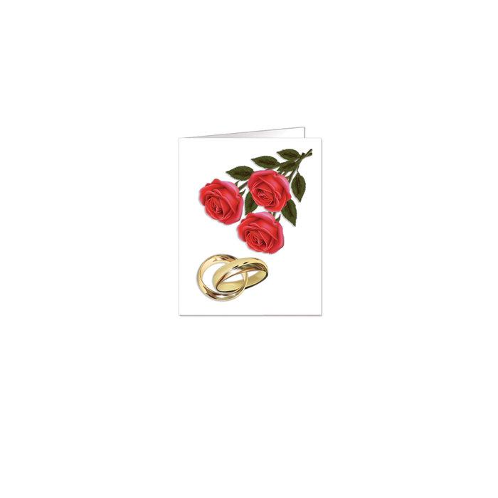 Etiquetas boda rosas y alianzas  90 unidades