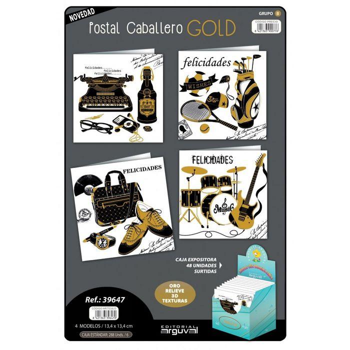 Postal caballero gold surtida