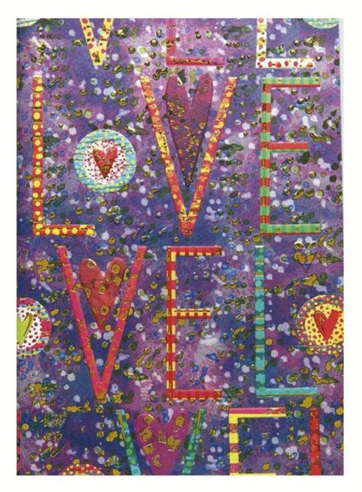 Cuaderno notas liso love turnowsky oro y relieve