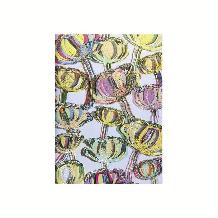 Cuaderno notas liso tulipanes turnowsky oro y relieve