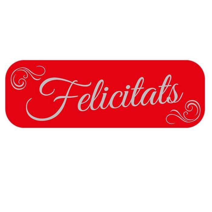 Rollo 250 etiquetas rojas felicitats catalan
