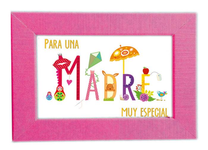 Portafoto + mini postal madre 9x13