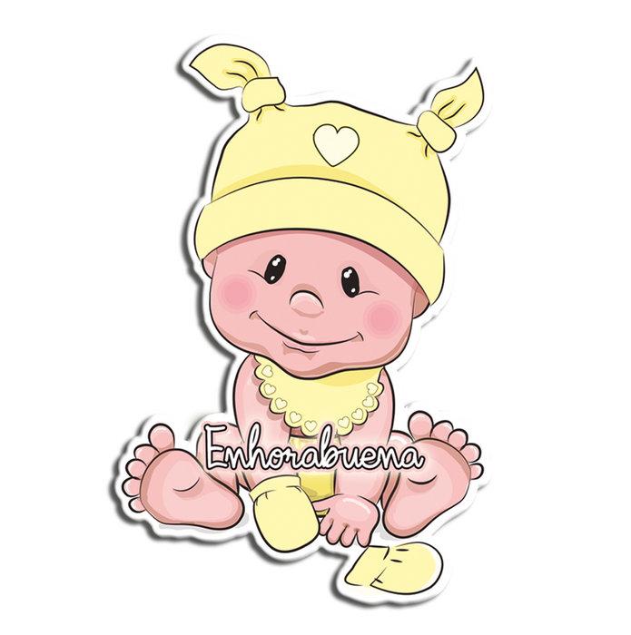 Tarjeton bebe enhorabuena 15x24