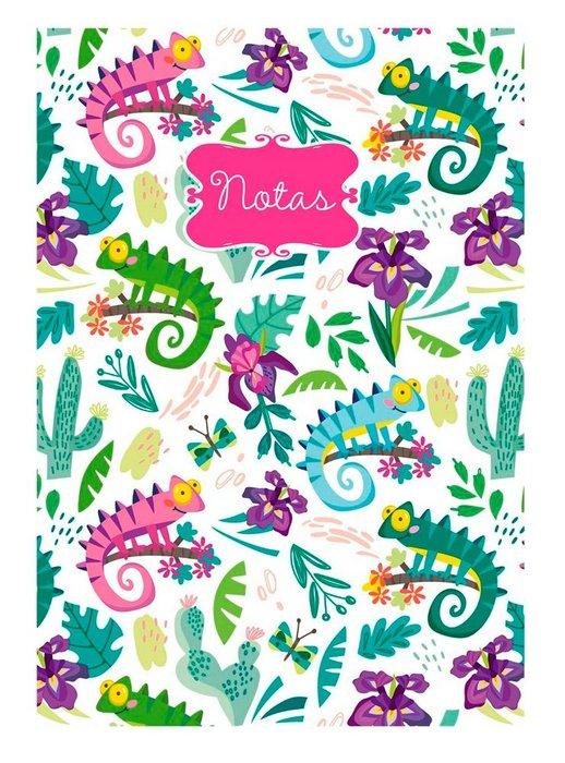 Cuaderno a5 notas liso camaleones (14,8x21)