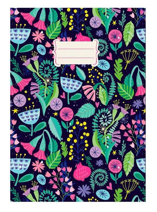 Cuaderno notas a5 detalles florales (14,8x21)