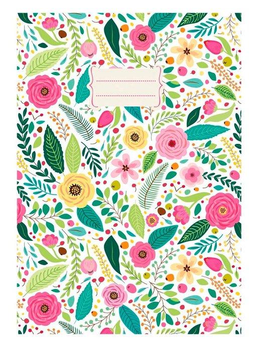 Cuaderno notas a5 rosas (14,8x21)