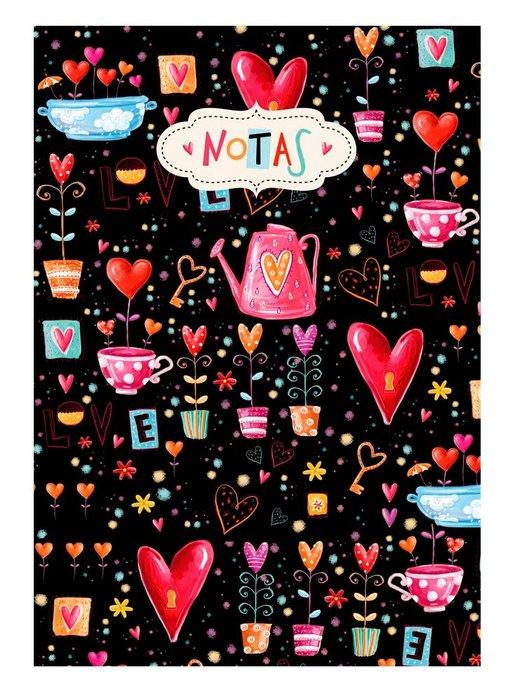 Cuaderno notas a5 corazones (14,8x21)