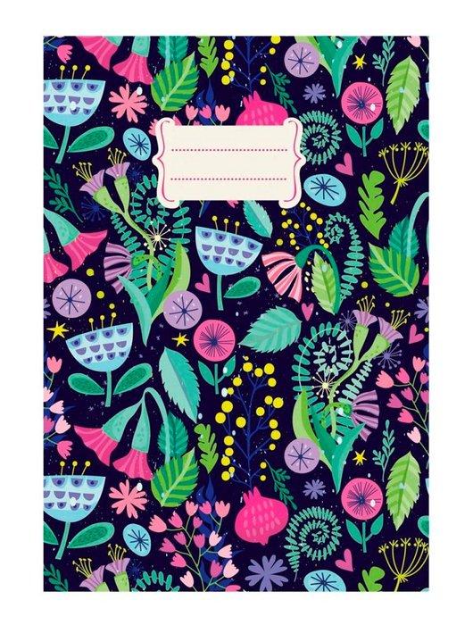 Cuaderno a6 notas liso detalles florales (10.5x14.8)