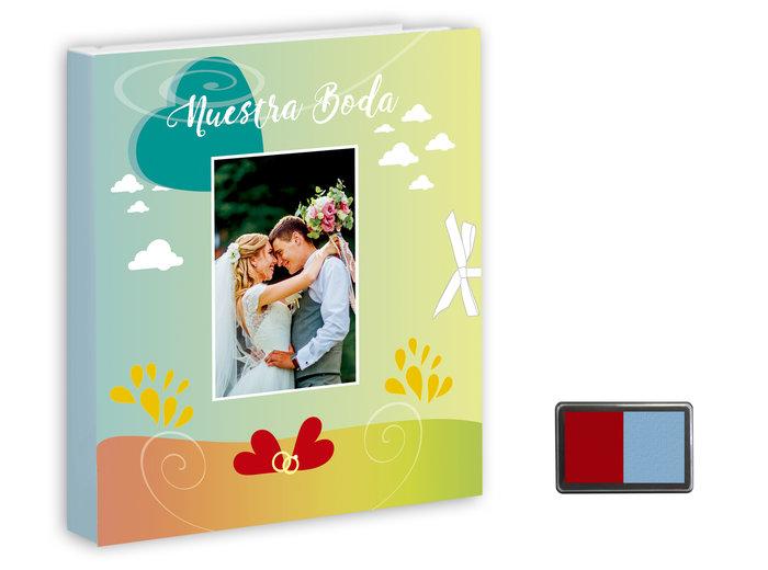 Nuestra boda (libro + tampon 2 colores)
