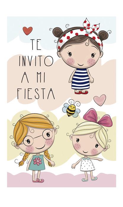 Invitacion fiesta niÑas blister 8 unidades