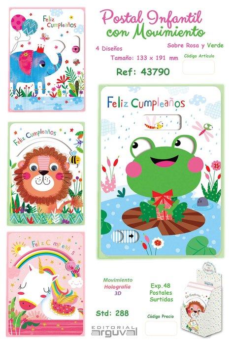 Expositor 48 postales infantil con movimiento surtidas