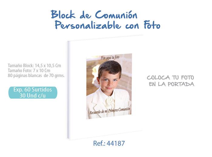 Bloc comunion foto niÑo