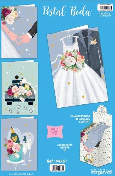 Expositor 48 postales boda surtidas