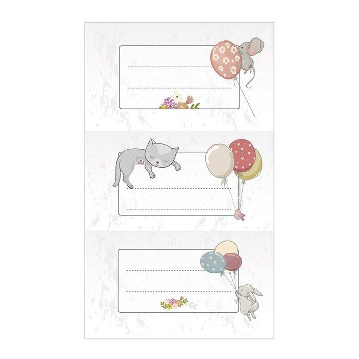 Etiquetas nombres blister 9 sticker animalitos