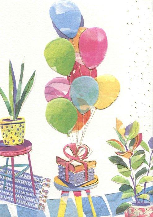 Postal turnowsky regalo con globos