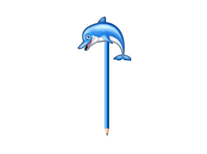 Lapiz con delfin 24 unidades
