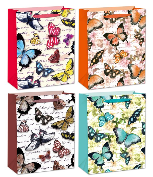 Bolsa mediana mariposas 12 unidades surtidas