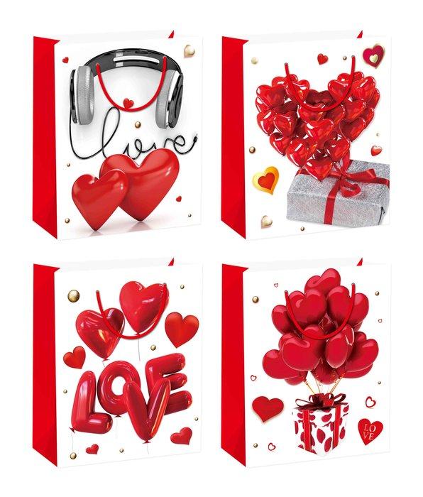 Bolsa mediana corazones 12 unidades surtidas