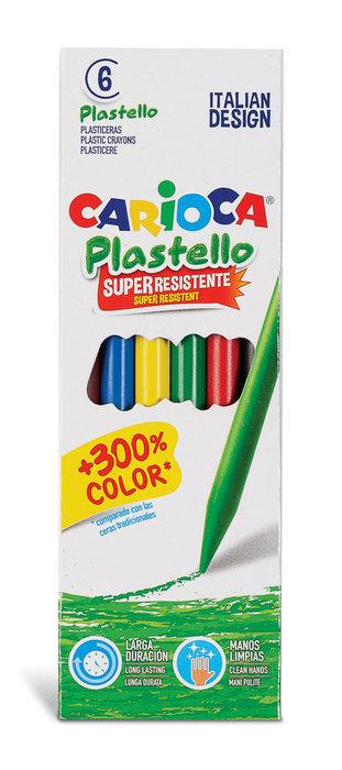Ceras plastello 6 colores