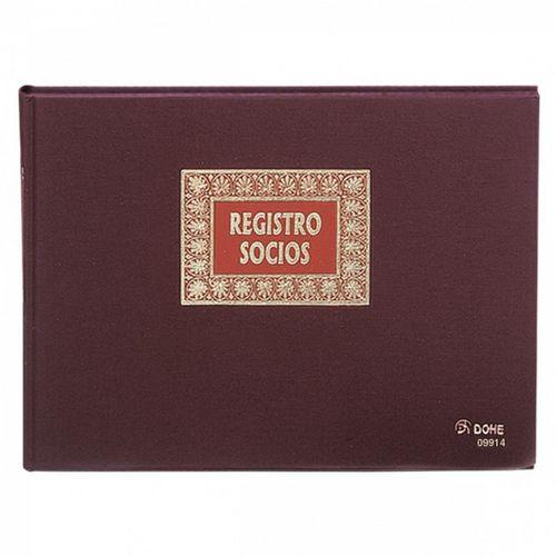 Libro contabilidad fº apaisado 100h registro socios