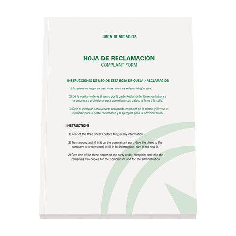 Libro de reclamaciones junta de andalucia