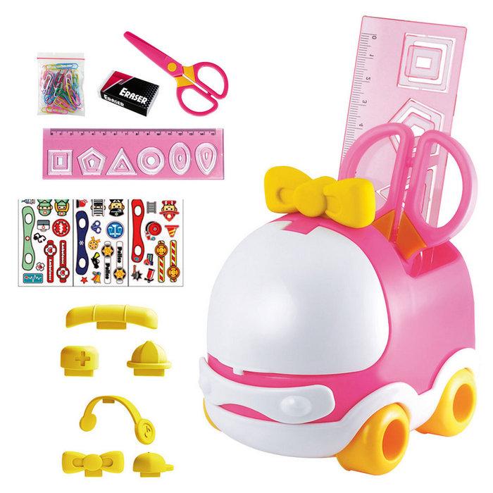 Set escritorio infantil coche rosa
