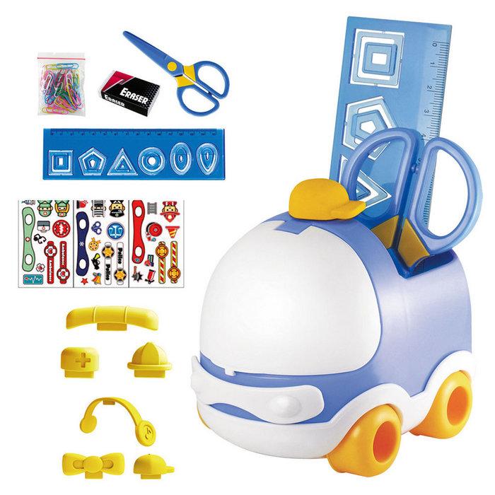 Set escritorio infantil coche azul