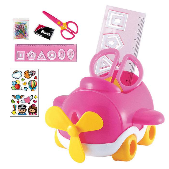 Set de escritorio infantil dohe - avion rosa