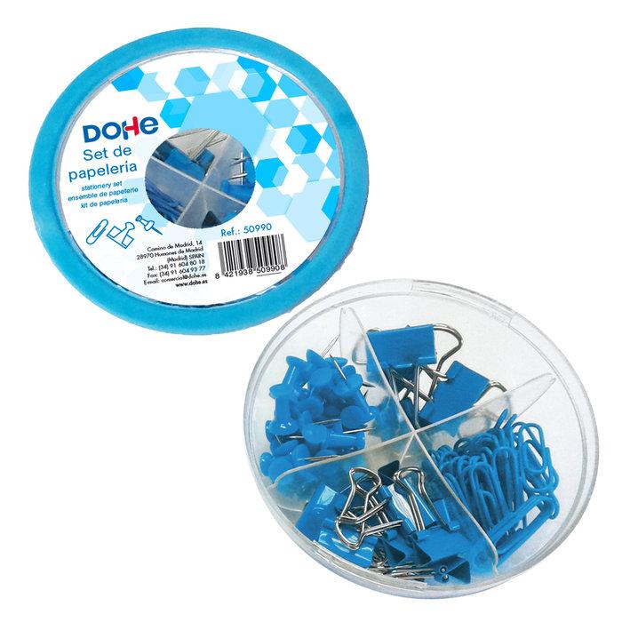 Combo ovni de accesorios de escritorio azul