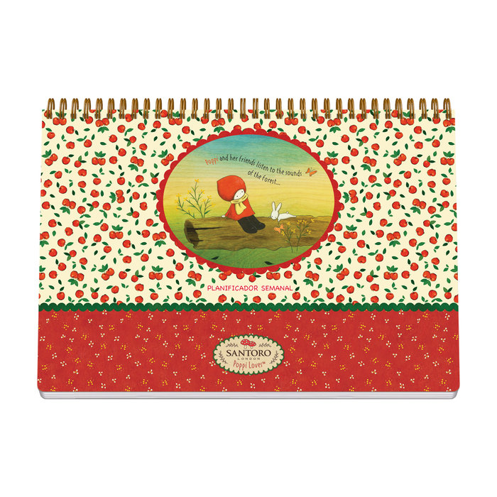 Planificador sobremesa semanal santoro - poppi loves - apple