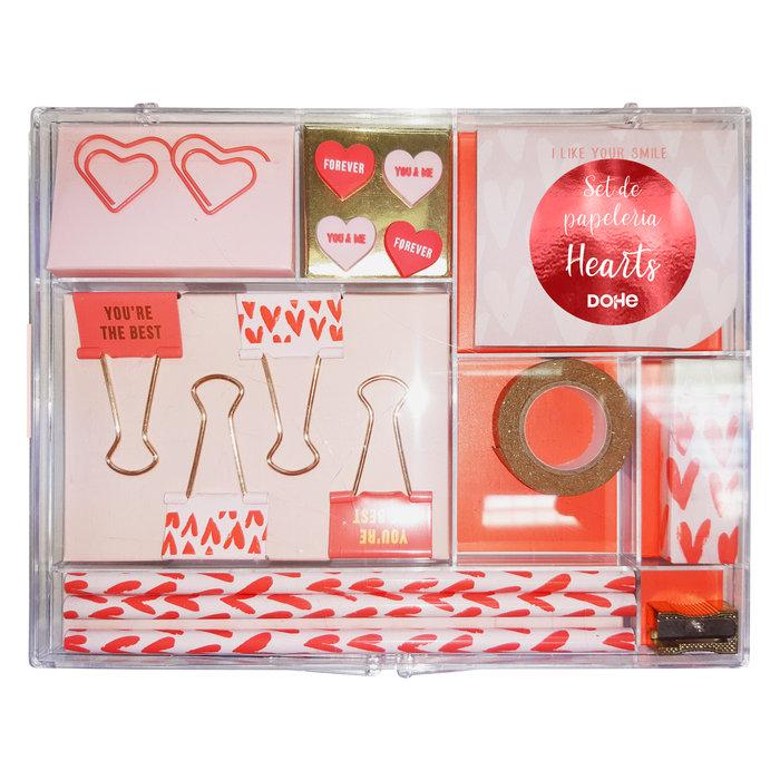Set de papeleria de 17 piezas hearts
