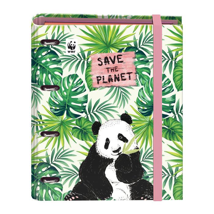 Carpeta recambio anillas 35 mm  wwf  save the planet