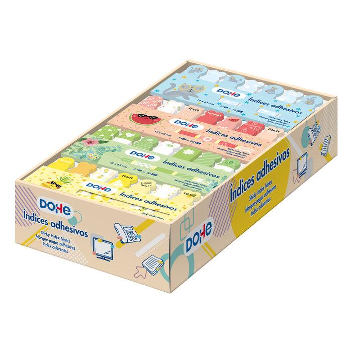 Expositorde indices adhesivos preimpresos - 36 sets