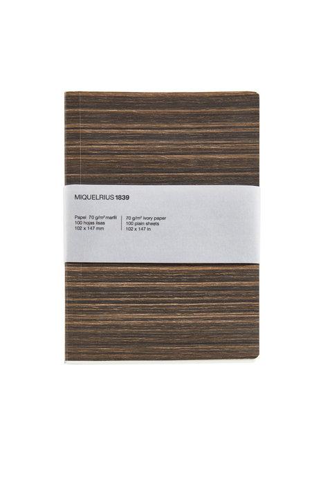 Cuaderno de notas madera a5 48 h liso reciclado