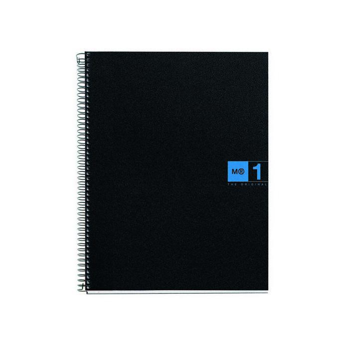 Bloc espiral a4 80h 70gr cuadro 5mm pp 4/t azul mr