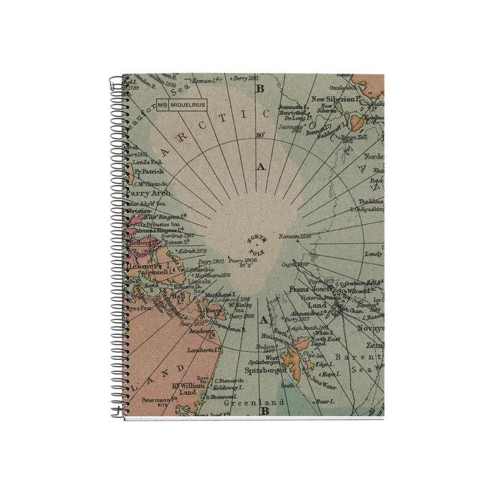Cuaderno reciclado a4 cuadro 5mm 80h ecomaps mr