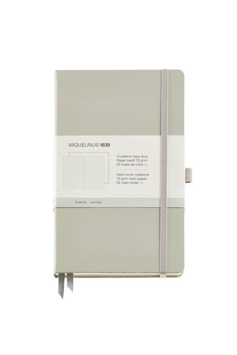 Cuaderno de notas gris 130x210 192 h liso simil piel