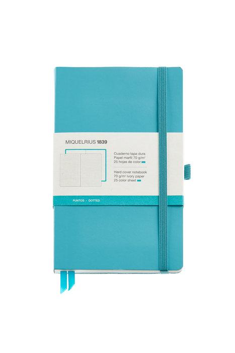 Cuaderno de notas azul 130x210 192 h liso simil piel